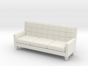 1:36 60's Sofa in White Strong & Flexible