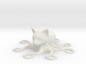 Octocat, solid in White Natural Versatile Plastic