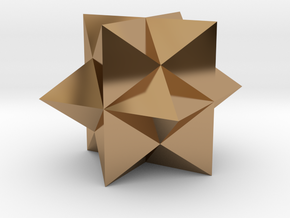 Polyhedron II-solid in Polished Brass