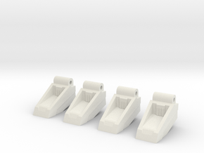 Classics seeker footplates- two sets in White Natural Versatile Plastic