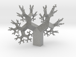 Wild Fractal Tree in Metallic Plastic