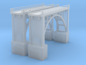Arched Bridge 64' high 190ft in Smooth Fine Detail Plastic