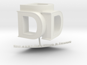 DDD 3D Logo in White Strong & Flexible