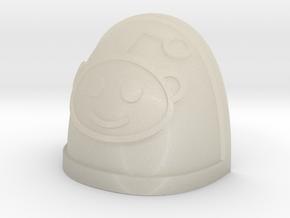 Reddit Alien shoulder Pad in White Acrylic