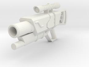 Minifig gun 02 in White Natural Versatile Plastic