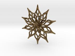 Sunflower Pendant in Natural Bronze