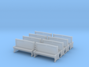 Bench type A - 00 ( 1:76 scale ) 10 Pcs set in Smooth Fine Detail Plastic