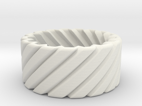Twisted ring - Martin Lim in White Natural Versatile Plastic