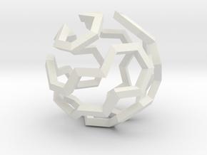 Hamilton Cycle on Soccer Ball (Medium) in White Natural Versatile Plastic