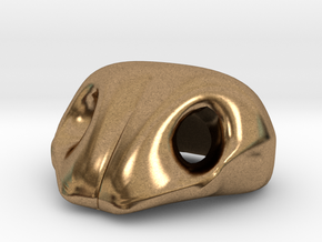 Dog nose for plushies or puppets in Natural Brass