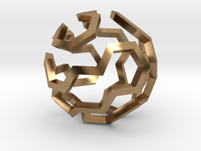 Hamilton Cycle on Soccer Ball (Large) in Natural Brass