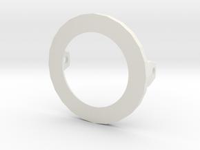Ping pong ball holder for puppet eyelid in White Natural Versatile Plastic