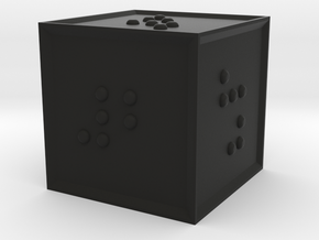 Braille D6 in Black Strong & Flexible