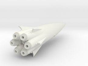 """Cohete"" Class Fast Escort SpaceShip in White Natural Versatile Plastic"