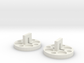 120 To 616 Film Spool Adapters, Set of 2 in White Natural Versatile Plastic