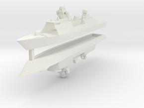 De Zeven Provinciën class frigate 1:3000 x2 in White Natural Versatile Plastic