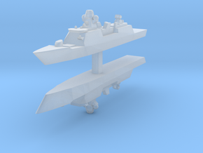 De Zeven Provinciën class frigate 1:4800 x2 in Smooth Fine Detail Plastic