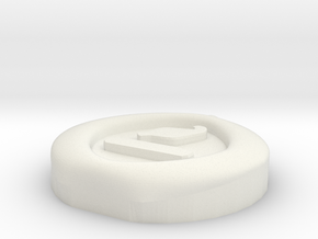 4 Elements - Earth Pendant in White Natural Versatile Plastic