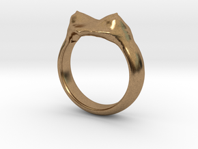 "heart ring ""Polena"" in Natural Brass"