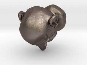 Funny Head in Polished Bronzed Silver Steel
