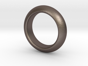 Sinoid Ring 20 mm scale in Polished Bronzed Silver Steel