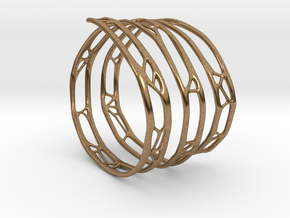 The Organic Bracelet in Natural Brass