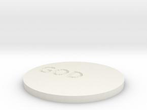 by kelecrea, engraved: GOD in White Natural Versatile Plastic