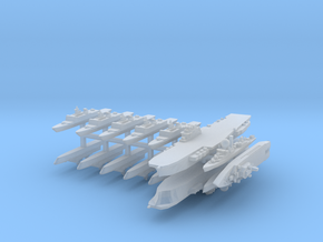 French Fleet 2  1:6000 (15 Ships) in Smooth Fine Detail Plastic