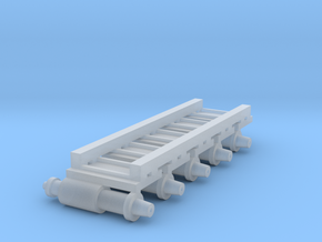 Air Brake (x5) for HOn3/30 Freight stock in Smooth Fine Detail Plastic