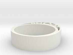 Secret Egg Ring (Large) in White Natural Versatile Plastic