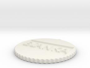 by kelecrea, engraved: BIANKA in White Natural Versatile Plastic