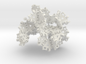 {3,8} radius 2 with boundary hinges in White Natural Versatile Plastic