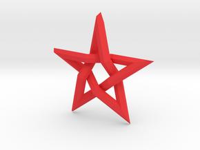 Devil's Cross (Large) in Red Processed Versatile Plastic