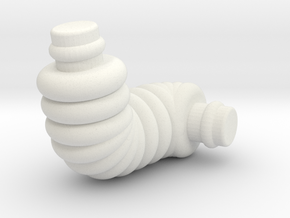 Retro Robo Arm R in White Natural Versatile Plastic