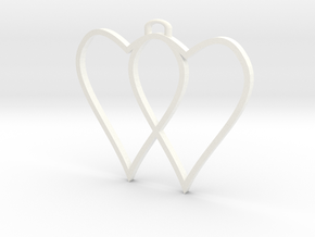 two hearts and top hasp 210911 1751 (fixed) in White Processed Versatile Plastic
