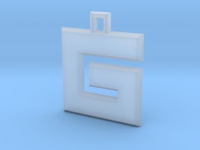 ABC Pendant - G Type - Solid - 24x24x3 mm in Smooth Fine Detail Plastic