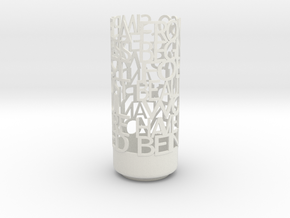 Light Poem Darwin in White Natural Versatile Plastic