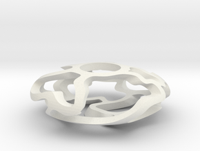 Vine Disc in White Natural Versatile Plastic