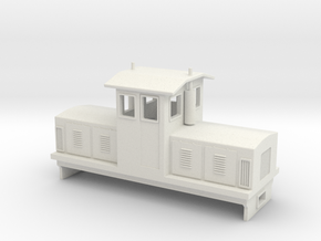 "HOn30 Centrecab Locomotive (""Joanna"") in White Natural Versatile Plastic"