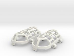 Pendant Cage in White Natural Versatile Plastic