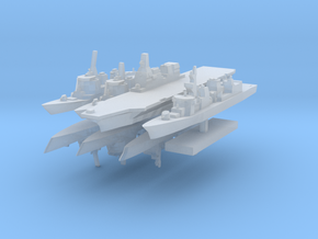 JMSF fleet 2 1:4800 (8 ships) in Smooth Fine Detail Plastic