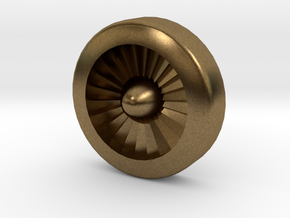 Aviation Button - Turbine Engine in Natural Bronze