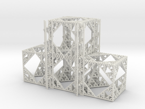 Beta Cube Staircase in White Strong & Flexible