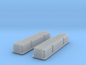 1/16 SBC Finned Valve Covers in Frosted Ultra Detail