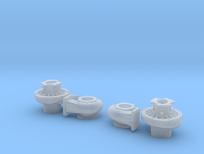 1/8 Scale 2 Inch Right And Left Turbo in Smooth Fine Detail Plastic