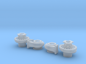 1/12 Scale 4 1/2 Inch Right And Left Turbo in Smooth Fine Detail Plastic