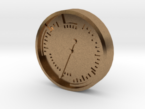 Aviation Button - Airspeed Indicator in Raw Brass