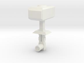 Sunlink - KaPow Hammer - v2 Thicker stem in White Natural Versatile Plastic