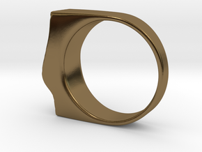 SandWave ring in Polished Bronze