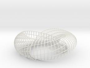 Homage to Lacan | Moebius Arc | 32x8 | Bracelet |  in White Natural Versatile Plastic